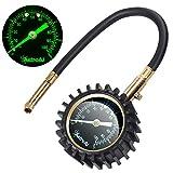 AstroAI ATG60RH Black Heavy Duty Tire Pressure Gauge, 60 PSI Certified ANSI B40.1