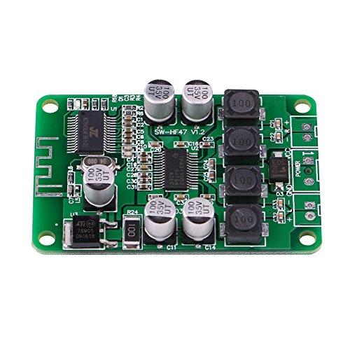 Changor Placa de amplificador de potencia aplicable, amplificador superior de audio altavoz impedancia amplificador electrónico de metal hecho para altavoz