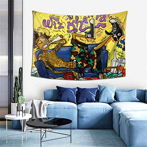 Wiz Khalifa Tapestry Wall Hanging Bedding Tapestry 3D Printed Art Tapestry Home Decor 60'x40'