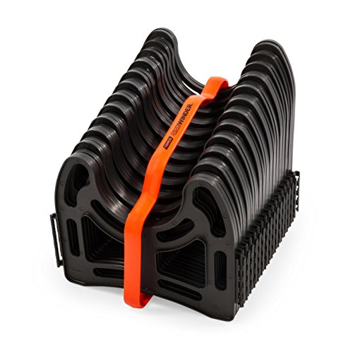 Camco 15 Feet 15ft Sidewinder RV Sewer Support, Made from Sturdy Lightweight Plastic, Won't Creep Closed, Holds Hoses in Place-No Need for Straps (43041)