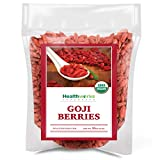 Healthworks Raw Goji Berries (16 Ounces / 1 Pound) | Certified Organic & Sun-Dried | Keto, Vegan & Non-GMO | Baking,...