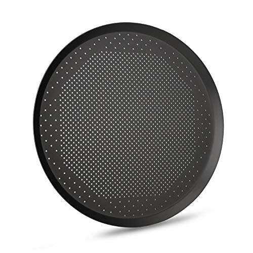 Perforated Pizza Pan, 14 inch Segarty Perforated Thick Aluminum Steel Round Pizza Crisper Heating Baking Pan, Pizza Tray for Oven, Pizza Cooker, Vented Pizza Sheet Bakeware for Home & Restaurant