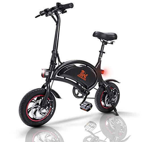 Bicicletta Elettrica Pieghevole, Bici Elettrica Adulto E-Bici Pedalata Assistita Autonomia 40-60km, Potenza 250 W, velocità Massima 25 km/h, 36V 10Ah 12 Pollici Pneumatici Gonfiabili, B1 Pro