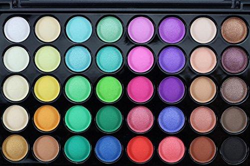 40 Colores CosméTicos En Polvo Sombra De Ojos Paleta Maquillaje Conjunto Mate...