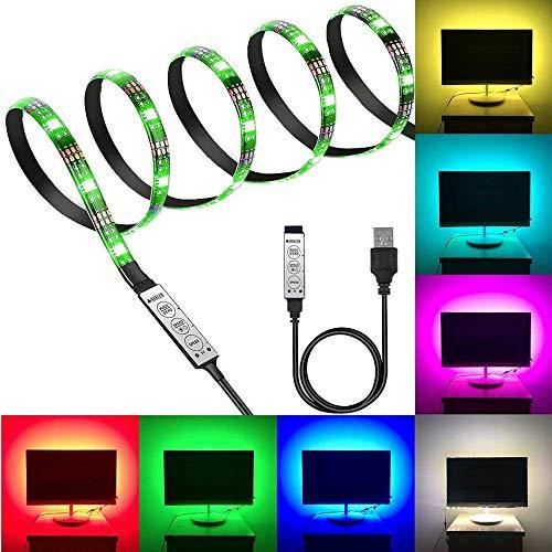 AOZBZ USB LED Strip LED TV Hintergrundbeleuchtung Computergehäuse LED Licht 5050 5 V RGB USB LED Streifen Licht für TV PC Laptop Hintergrundbeleuchtung RGB -1 m