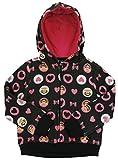 Paul Frank Little Girls' Hearts and Bow Fleece Hoodie, Black, 4T