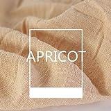 Tela de lino, paño de lino liso, tela de costura de lino natural, tela de bordado de lino para prendas de vestir, manualidades, tapicería de flores decoración de maceta y mesa