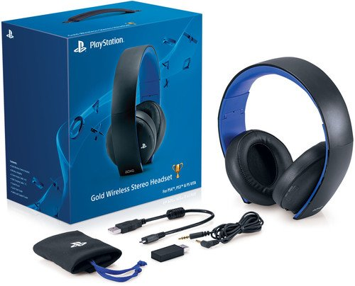 PlayStation Gold Wireless Stereo Headset - Jet Black [Old Model]