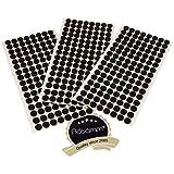 Adsamm® | 384 x Filzgleiter | Ø 12 mm | Schwarz | rund | 3.5 mm starke selbstklebende Filz-Möbelgleiter in Top-Qualität
