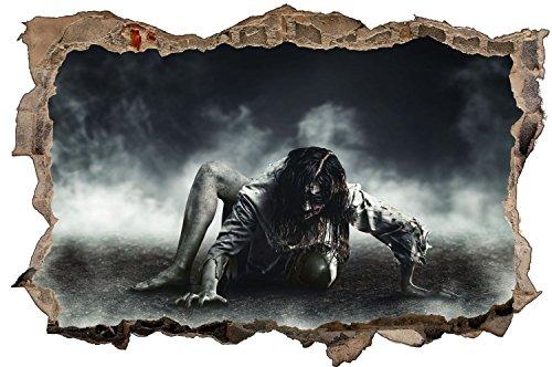 Zombie Frau Fantasy Horror Wandtattoo Wandsticker Wandaufkleber D1164 Größe 70 cm x 110 cm