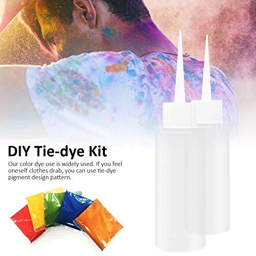 Morningtime Kit Tie Dye Tulip 5 Colores Tulip Dye Set Tela Textil Colores Tie Dye Kit One Step DIY Ropa Tinte Graffiti para Textiles Ligeros Camisa manteles
