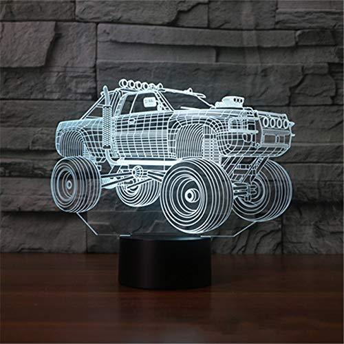 Neon Lights Bar Lámpara 3D Vehículo Todoterreno Led 16 Cambios de Color Luces LED 3D Regalo de cumpleaños Navidad