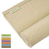 Yogasana Yoga Mat | Air (Natural) Thick Organic Cotton,...