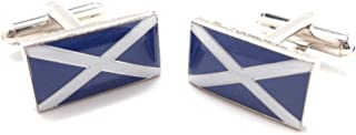 Flag of Scotland Cufflinks Cuff Links Scottish