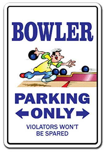 Nieuwe Bowler Decal Parking Decals Bowling Ball Shirt Bag Team Pin Metalen Teken 8x12 inch