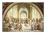 Puzzle Mundial de la Famosa Pintura Rompecabezas Escuela de Atenas de Rafael 300/500/1000 Piezas for Regalo Juguete Adulto Adolescentes Relax (Size : 300pcs )