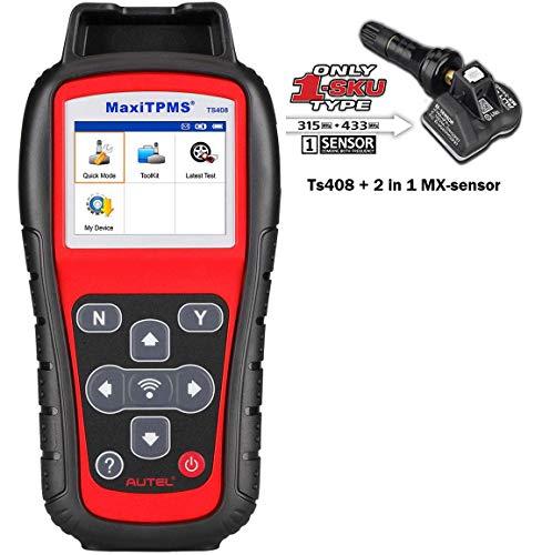 MaxiTPMS TS508 TS408 Plus Extra Screen Wiper TPMS Relearn and Reset Tool Program MX Sensor CheckRemove DTCs Quick and Advance Mode Tire Sensor ID Read and Clone Better TS401 TS501 () - Autel TS408Pro