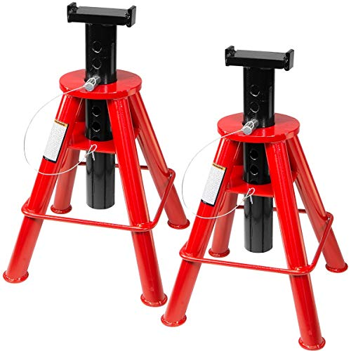 Stark Set of 2PCS 10-Ton High Jack Stand Pin Type Stand 10-Ton (20,000 lb) Capacity 18-1/2