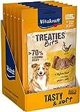 Vitakraft Treaties Bits Poulet, Friandise Snack à la Viande Qualité Premium pour Chien, 6 Sachets de 120 g