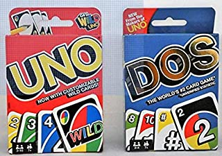 Uno Card Game and Dos Card Game 2-Pack
