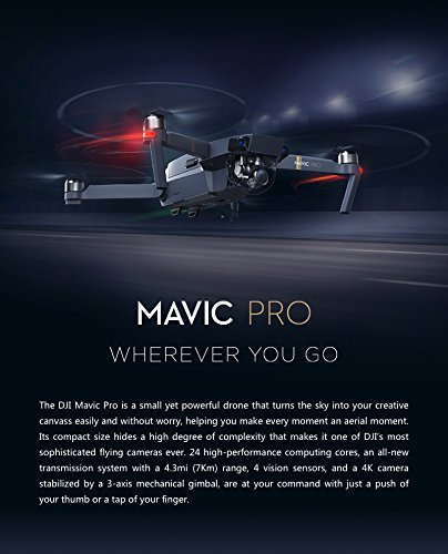 DJI Mavic Pro Fly More Combo: Foldable Propeller Quadcopter Drone Kit...