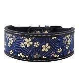 Pssopp Hundehalsband aus Nylon verstellbares Nylonhalsband Bequemes Sicherheitshalsband mit...