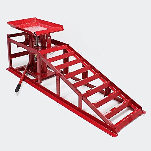 WilTec Rampe de Levage Jacks hydrauliques 2000kg réglable en Hauteur pour pneus à 225mm