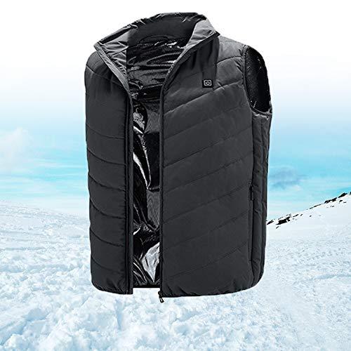 HTDHS Chaleco eléctrico de calefacción IP3 impermeable, chaleco calefactor eléctrico a prueba de viento, chaqueta de carga USB, lavable con banco de energía y máquina (color: verde, tamaño: XXXXL)