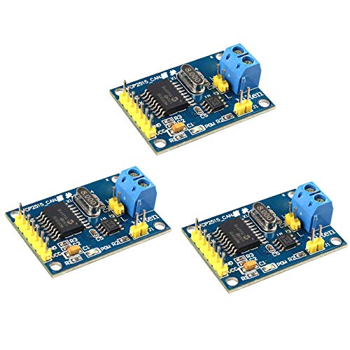 HALJIA 3PCS MCP2515 CAN Bus Module TJA1050 Receiver SPI Module Compatible with Arduino Raspberry Pi 51 ARM AVR DIY etc.