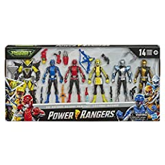 MULTIPACK OF POWER RANGERS BEAST MORPHERS FIGURES: Includes 6 figures and 12 accessories inspired by Power Rangers Beast Morphers INSPIRED BY THE POWER RANGERS TV SHOW: All five Beast Morphers Power Rangers: Red Ranger, Blue Ranger, Yellow Ranger, Si...