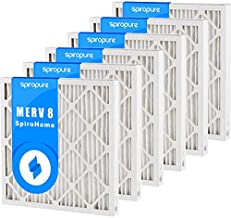 SpiroPure 14X17.5X2 MERV 8 Pleated Air Filters - Made in USA (6 Pack)