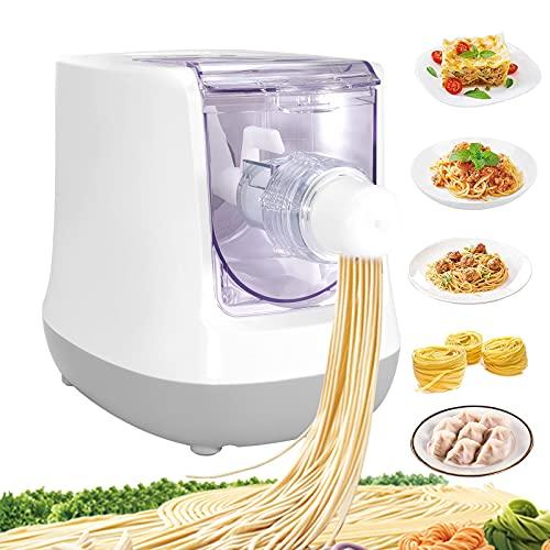 TOPQSC máquina de pasta eléctrica con pantalla LCD máquina inteligente de fideos 13 moldes máquina pasta automática para crear pasta fresca que incluye espaguetis, bola masa en 15 minutos