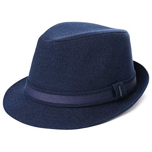 SIGGI Trendy Trilby Sombreros Jazz Cap Homburg Gangster