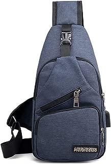 YXHM AU New Anti-Theft Diagonal Zipper Chest Bag (Color : Blue)