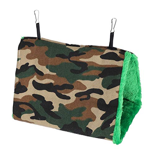 SALUTUYA Pet Cotton Hanging Sleeping Cage Hammock Comfortable Durable Hedgehog for Sugar Glider(Camouflage, Medium)