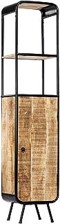 Tidyard Aparador de Madera Maciza de Mango Denso y Resistente Hecho a Mano único 40x30x180 cm