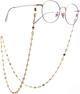 LIKGREAT Circle Chain Eyeglass Holder for Women Long Necklace Fashion Accessories