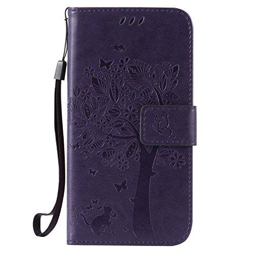 Pink Blume Schwarz S5 Neo ISAKEN Kompatibel mit Galaxy S5 H/ülle PU Leder Brieftasche Geldb/örse Wallet Case Handyh/ülle Tasche Schutzh/ülle mit Handschlaufe Standfunktion f/ür Samsung Galaxy S5