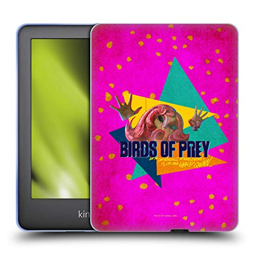 Official Birds of Prey DC Comics Panic In Neon Graphics Soft Gel Case Compatible for Basic Kindle 10th Gen (2019)