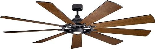 2021 Kichler 300285DBK Gentry XL Ceiling 2021 Fan, high quality 1-Light, Distressed Black online sale