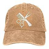 Bokueay Love Clipart Hair Stylist Deportes Gorra de Mezclilla Ajustable Snapback Unisex Llanura Sombrero de Vaquero de béisbol Estilo clásico