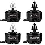 Crazepony 4pcs 2206 2700KV Brushless Motor 2-4S Lipo 2CW 2CCW for FPV Racing Drone Quadcopter for 210 220 250 Frame