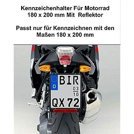 Kennzeichenhalter Motorrad 180 X 200mm Nummernschildhalter Kennzeichenträger Schwarz Halterung Nummernschild Auto