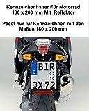 1x Kennzeichenhalter Für Kennzeichen im Format 180 x 200 mm 18 x 20 cm (für Motorrad Roller)...