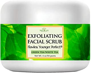 Exfoliating Facial Scrub - 70% Organic - Antioxidant Facial Cleanser With Green Tea/White Tea And With Other Natural And Organic €Œsuper†Ingredients