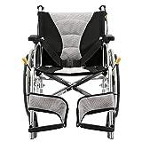 LOLRGV Aluminiumlegierung Rollstuhl leichte, tragbare Folding Selbst Propel Rollstuhl mit Handbremse Manuelle Sperren -