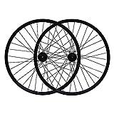 Set Ruota Bici Freno a Disco a Doppia Parete in Lega Cerchio Nero a Sgancio Rapido per Ruote Bici MTB Cerchio,36 Fori Effortless / 26 pollici / 36 hole