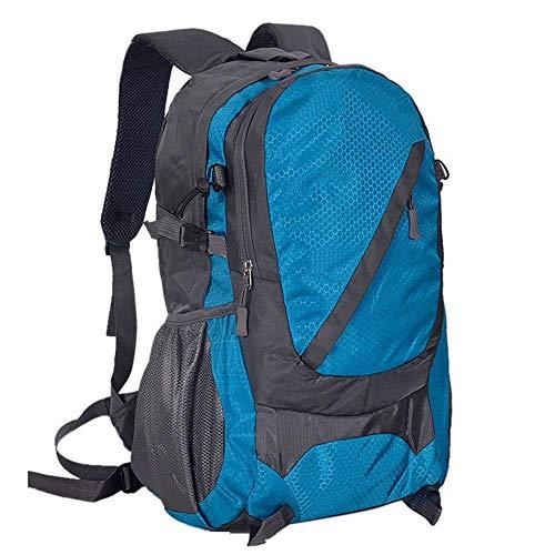 Bolsa de viaje para montañismo, hombres y mujeres, para estudiantes al aire libre, senderismo, equitación, viajes, mochila impermeable y duradera (color: rosa rojo) LQH (color: azul)