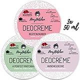 3x 50 ml - Bestsellerset - Naturkosmetik Deo Creme ohne Aluminiumsalze - natürliches Deodorant -...