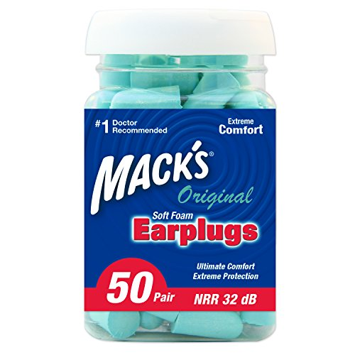 Mack's Original Soft Foam Earplugs, 50 Pair - 32dB Highest NRR, Comfortable Ear Plugs for Sleeping, Snoring, Work, Travel & Loud Events, Teal Green